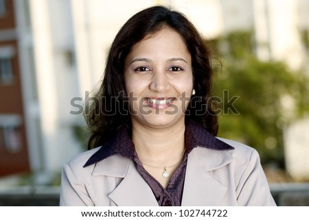 Portrait of cheerful Indian Businesswoman