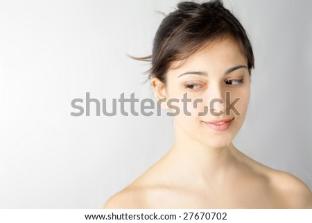 portrait of cheerful woman