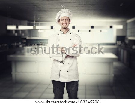 portrait of chef in modern kitchen
