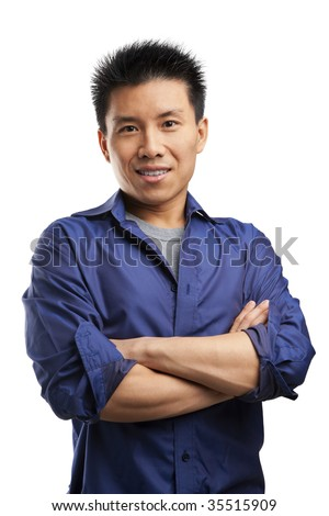 Portrait of confidence Asian young man