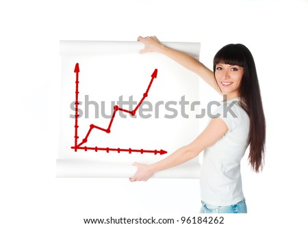 Portrait of confident businesswoman doing a presentation