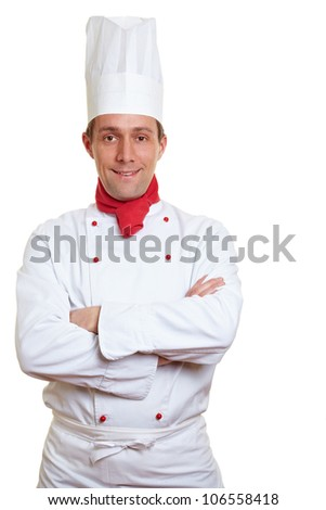 Portrait of confident chef cook with his arms crossed