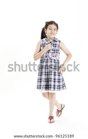 Portrait of cute asian girl - stock photo