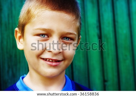Portrait of cute child with natural smile
