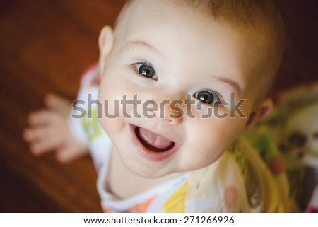 portrait of cute newborn baby...