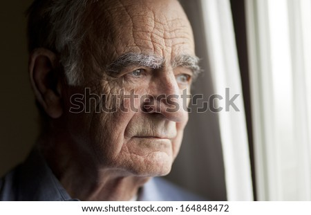 Portrait of Elderly man lost in thought #164848472