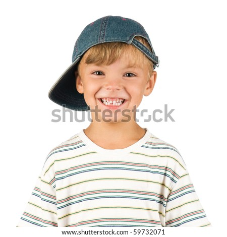 Portrait of emotionally kid. Funny little boy isolated on white background. Beautiful caucasian model.