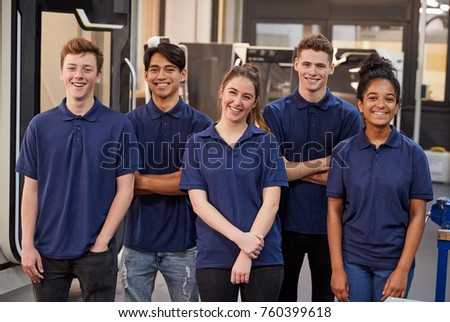 Portrait Of Engineering Apprentices In Factory Stock photo ©