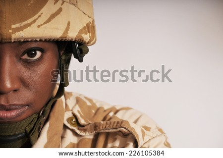 Portrait Of Female Soldier
