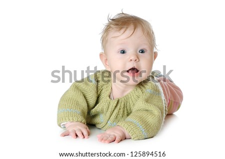 Portrait of five months old baby girl