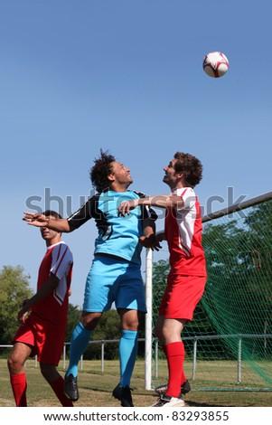 Portrait of football match