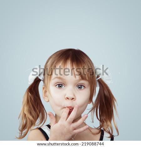 Portrait of funny lovely little girl #219088744