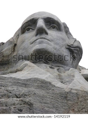 Portrait of George Washington at Mount Rushmore National Memorial in South Dakota - stock photo
