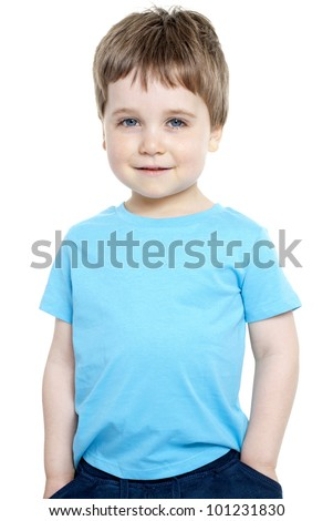 Portrait of gorgeous young boy