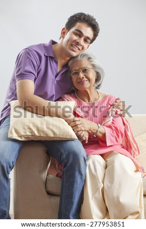 Portrait of Grandmother and grandson