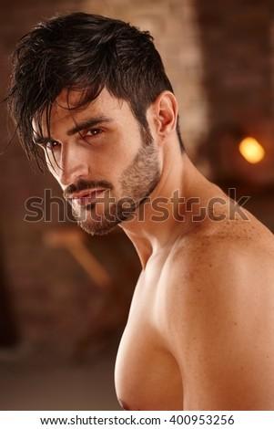 portrait of handsome charming...