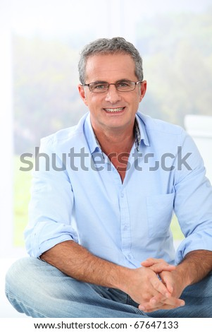 Portrait of handsome man with eyeglasses