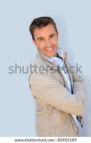 Portrait of handsome man with jacket