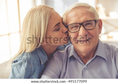 Have passed naked pic of old man kissing girls