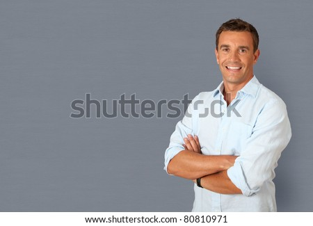 Portrait of handsome smiling man