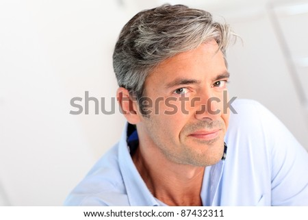 Portrait of handsome 40-year-old man #87432311