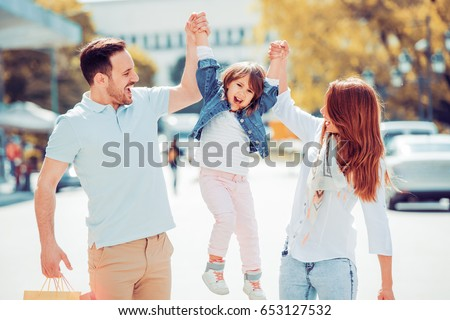 Portrait of happy family having fun together.