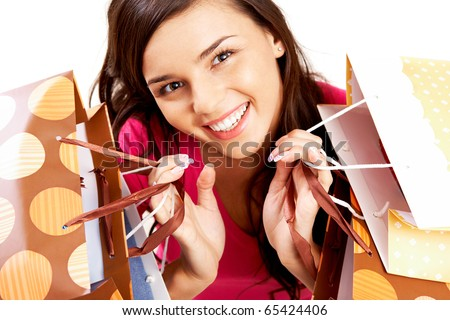 portrait of happy girl with...