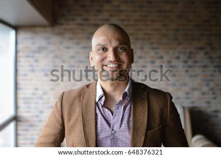portrait of happy handsome...