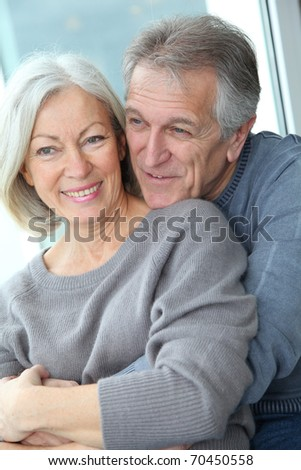Portrait of happy in loved senior couple