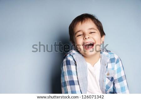 portrait of happy joyful...