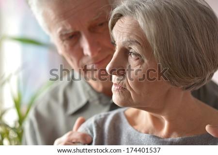 Portrait of happy older pair