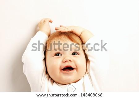 Portrait of happy smiling baby #143408068
