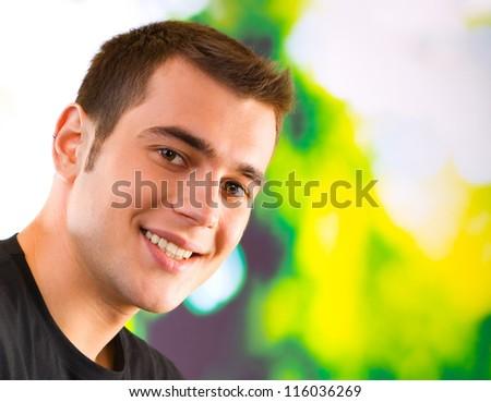 Portrait of happy smiling man, outdoor