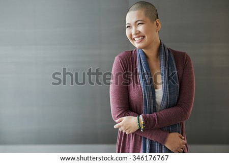 Portrait of happy Vietnamese breast cancer survivor Stock photo ©