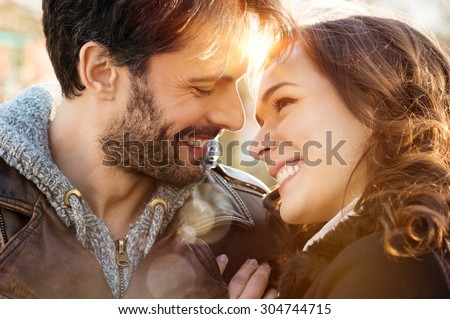 portrait of happy young couple...