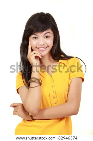portrait of happy young girl smiling