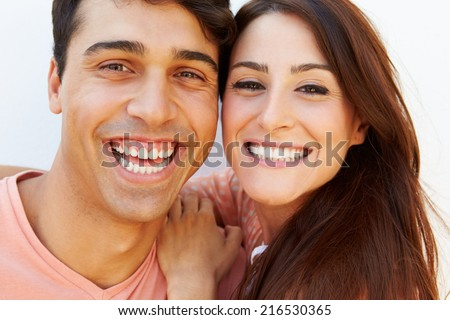 Portrait Of Happy Young Hispanic Couple #216530365