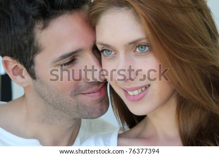 Portrait of in love couple - stock photo