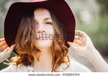 portrait of incredibly beautiful and young woman #490884394