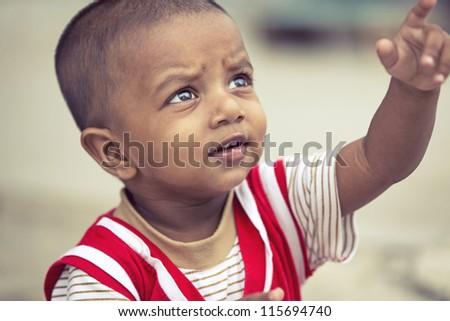 Portrait of Indian Little Boy