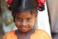 Portrait of Indian Village Girl