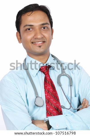 Portrait of Indian Young Doctor