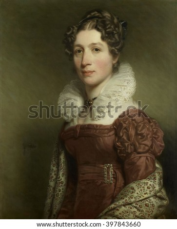 Portrait of Jacoba Vetter, by Charles Howard Hodges, c. 1816-37, British painting of Dutch woman, oil on canvas. She was the wife of Pieter Meijer Warnars, a Bookseller in Amsterdam