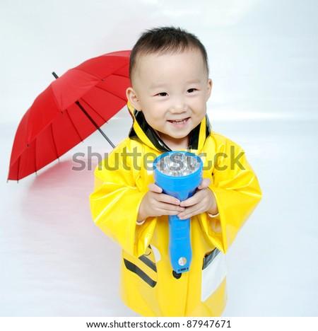 Portrait of  little Asian  boy
