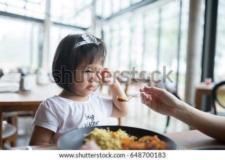 portrait of little asian girl...