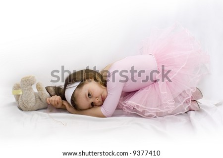 Portrait of little beautiful ballerina