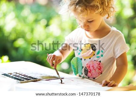 portrait of little girl...