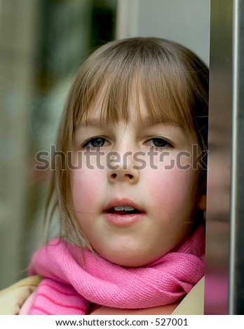 Portrait of little russian girl