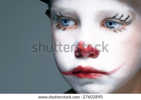 clown faces makeup. clown face makeup