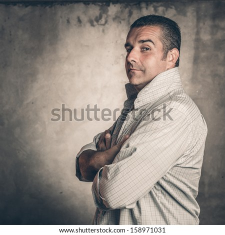 portrait of man #158971031